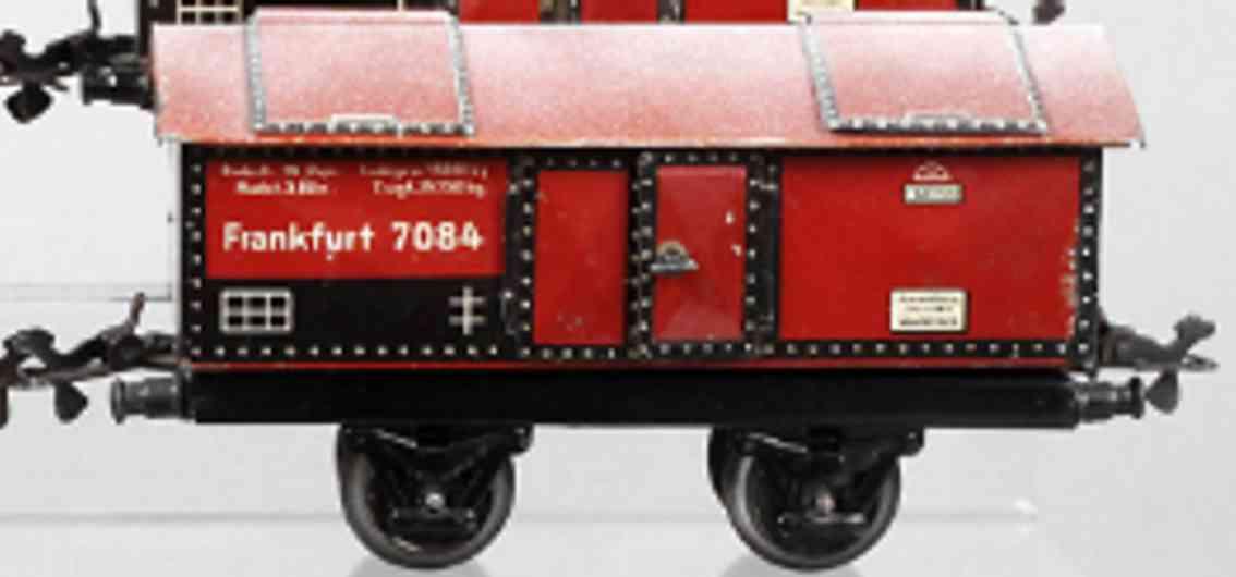 karl bub 985 frankfurt railway toy cement lime car maroon gauge 0