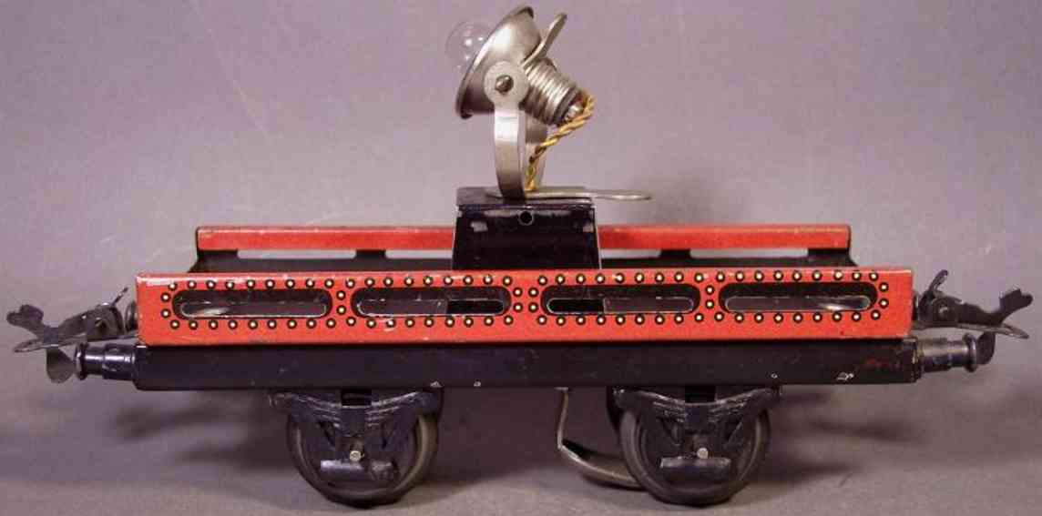 bub 989 railway toy spotlight car maroon gauge 0