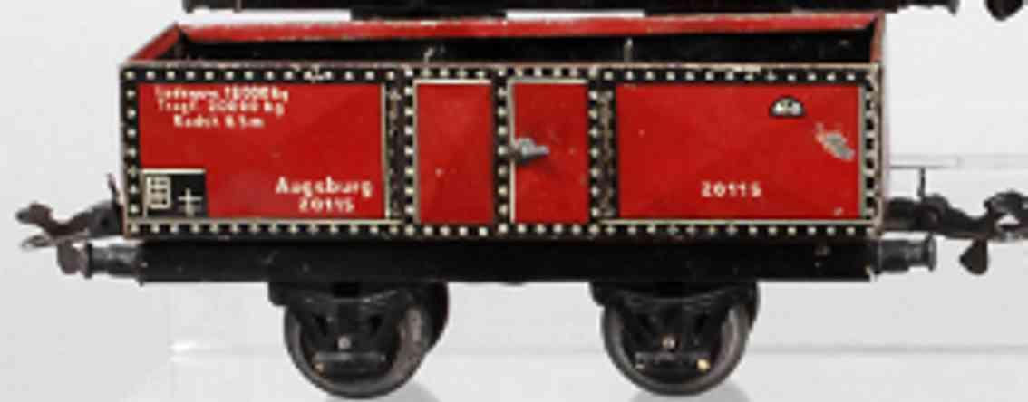 karl bub 993 railway toy gondola car gauge 0
