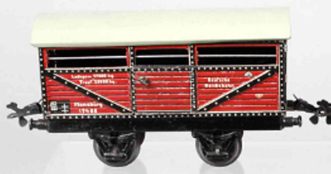 karl bub 996 railway toy cattle car mraoon flensburg 17480 gauge 0