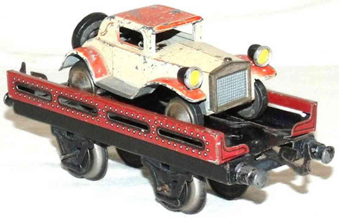 bub 997 railway toy low shelf car maroon gauge 0