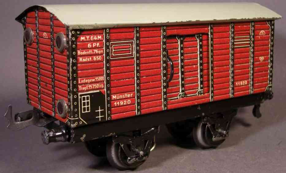bub 998 railway toy box car maroon gauge 0
