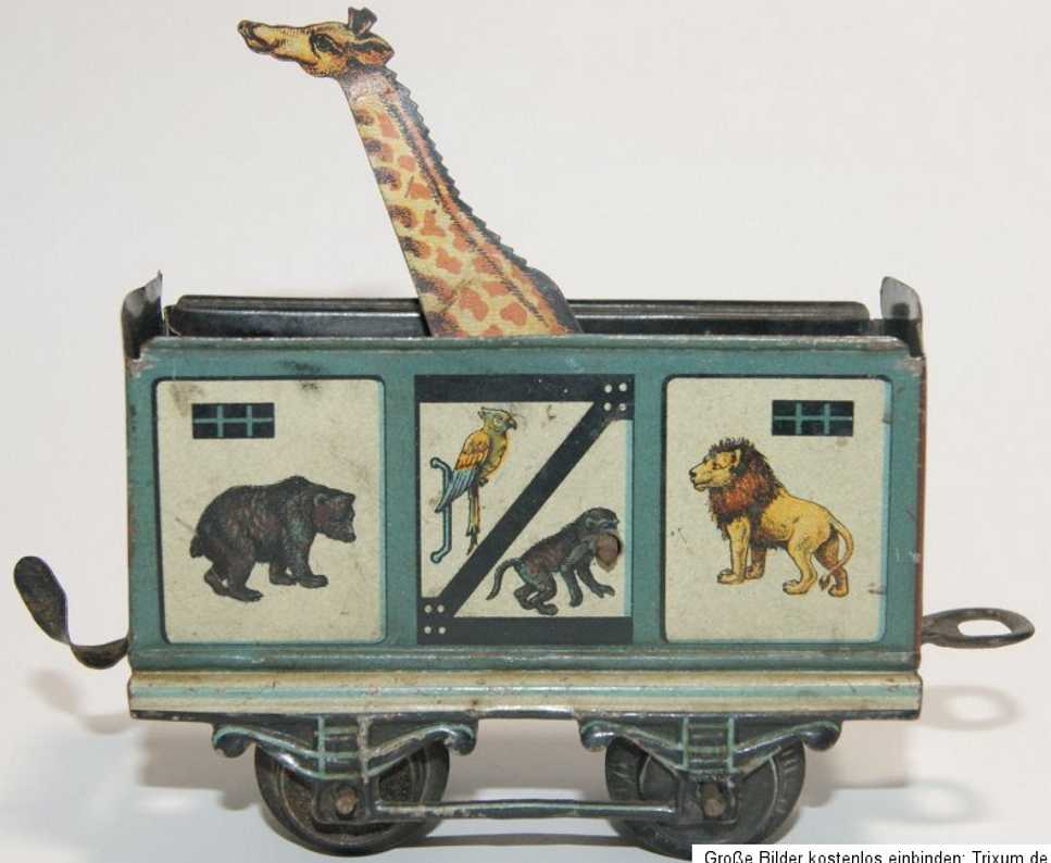 Bub Zirkuswagen mit Giraffe