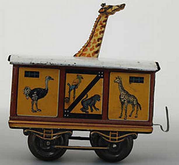 bub spielzeug eisenbahn giraffen-zoowagen spur 0