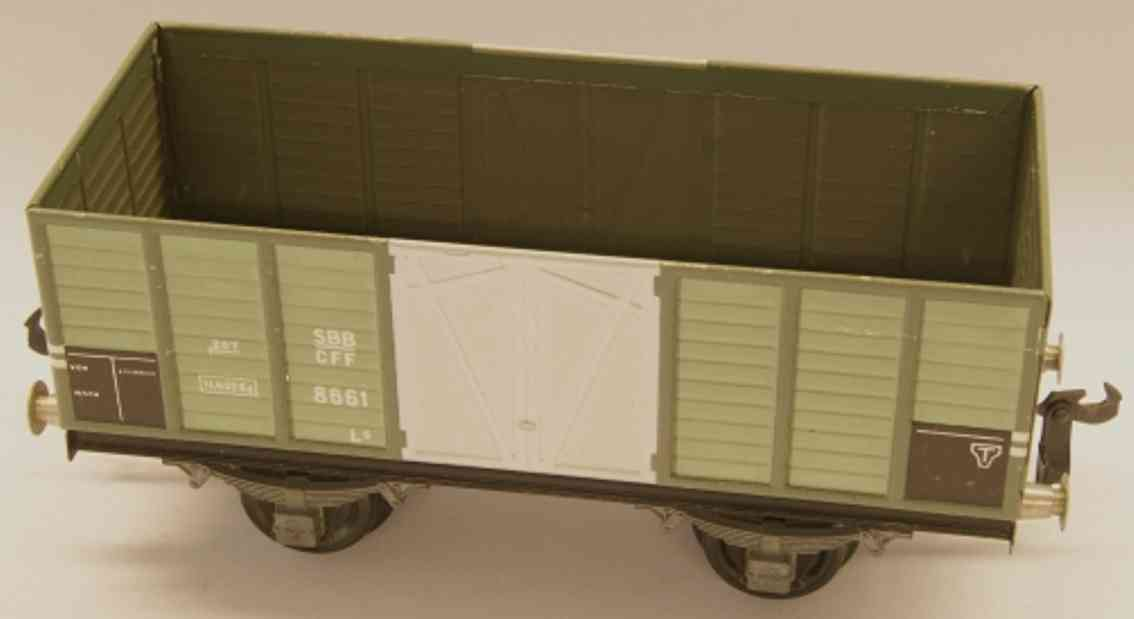 buco bucherer 8660 railway toy hopper; 2-axis; in gray, riveted coupling 2