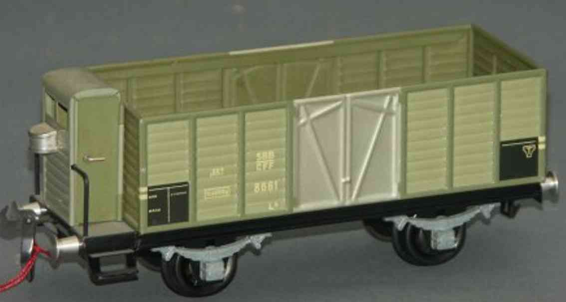 buco bucherer 8661 railway toy hopper gray brakeman house gauge 0