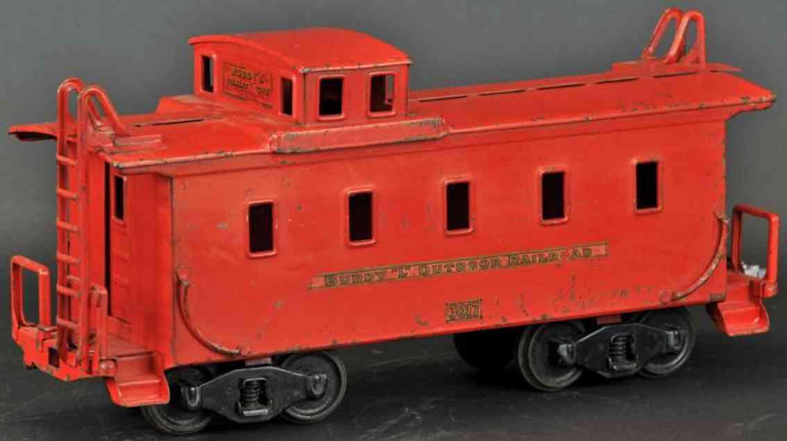 buddy l 1001 eisenbahn caboose für outdoor stahlblech rot outdoor