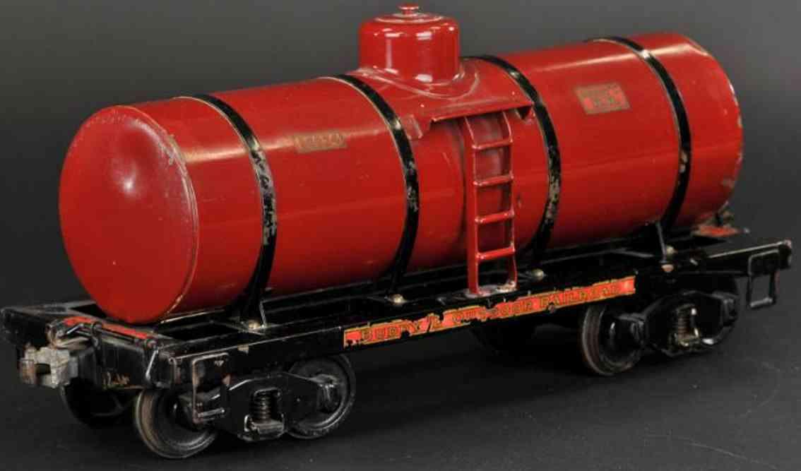 buddy l 1003 eisenbahn kesselwagen rot schwarz