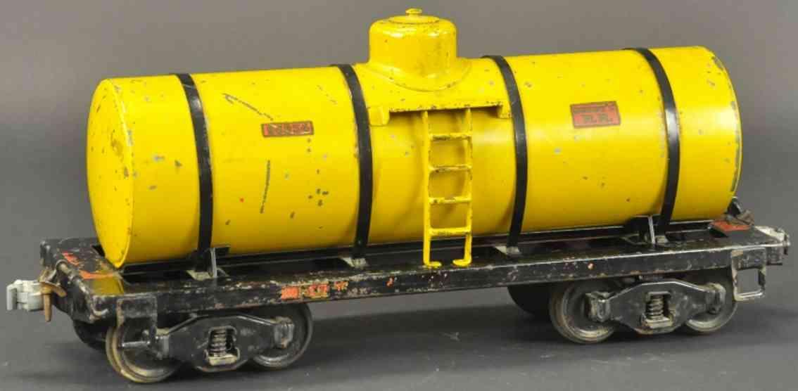 buddy l 1003 garteneisenbahn stahlblech tankwagen gelb outdoor serie