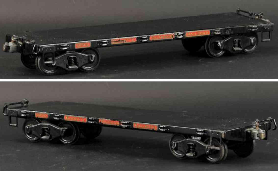 buddy l 1006 spielzeug eisenbahn gueterwagen flachwagen schwarz 68502