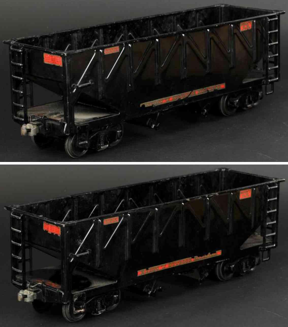 buddy l 1007 spielzeug eisenbahn schuettgutwagen schwarz