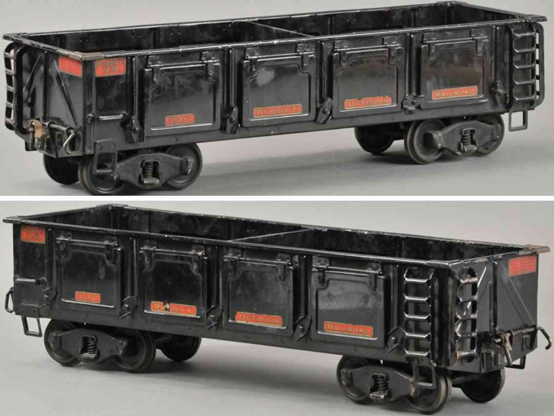 buddy l 1008 spielzeug eisenbahn schotterwagen schwarz