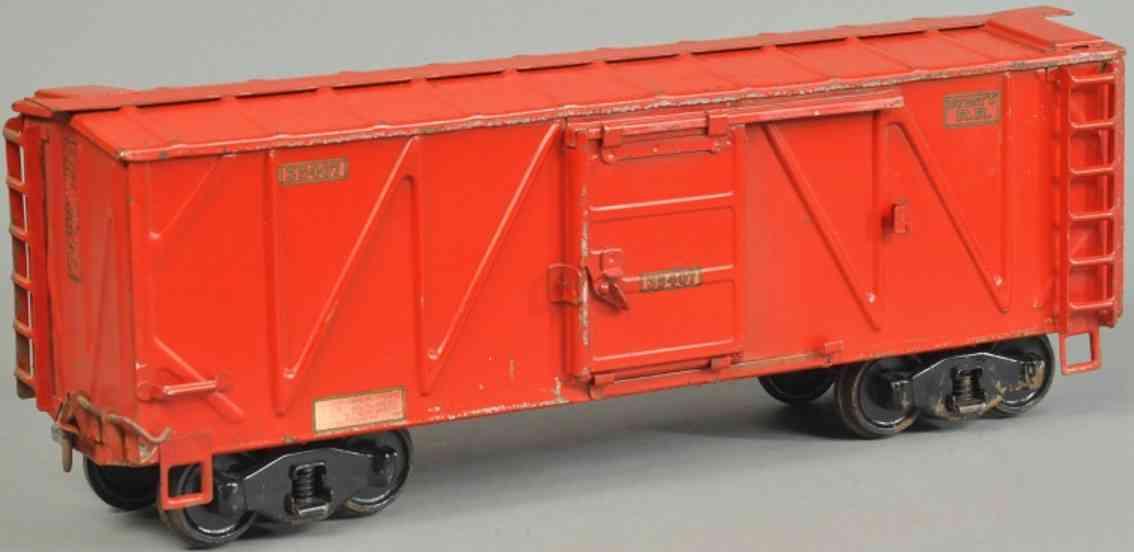 buddy l 35407 spielzeug eisenbahn gueterwagen rot outdoor series