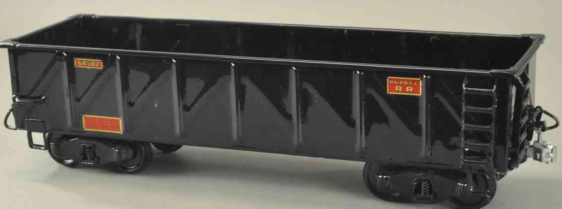 buddy l 68502 spielzeug eisenbahn offener gueterwagen schwarz outdoor series