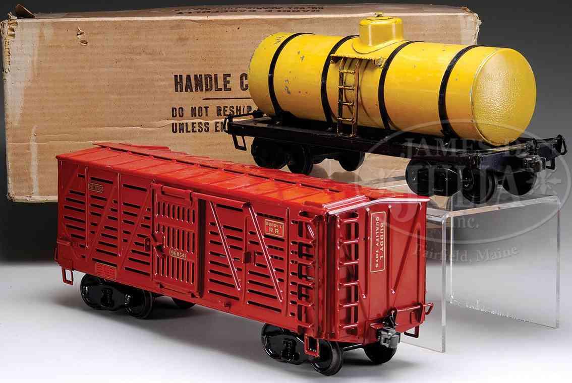 buddy l spielzeug eisenbahn viehwagen tankwagen
