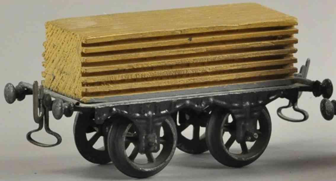 carette spielzeug eisenbahn flachwagen mit holzladung spur 1