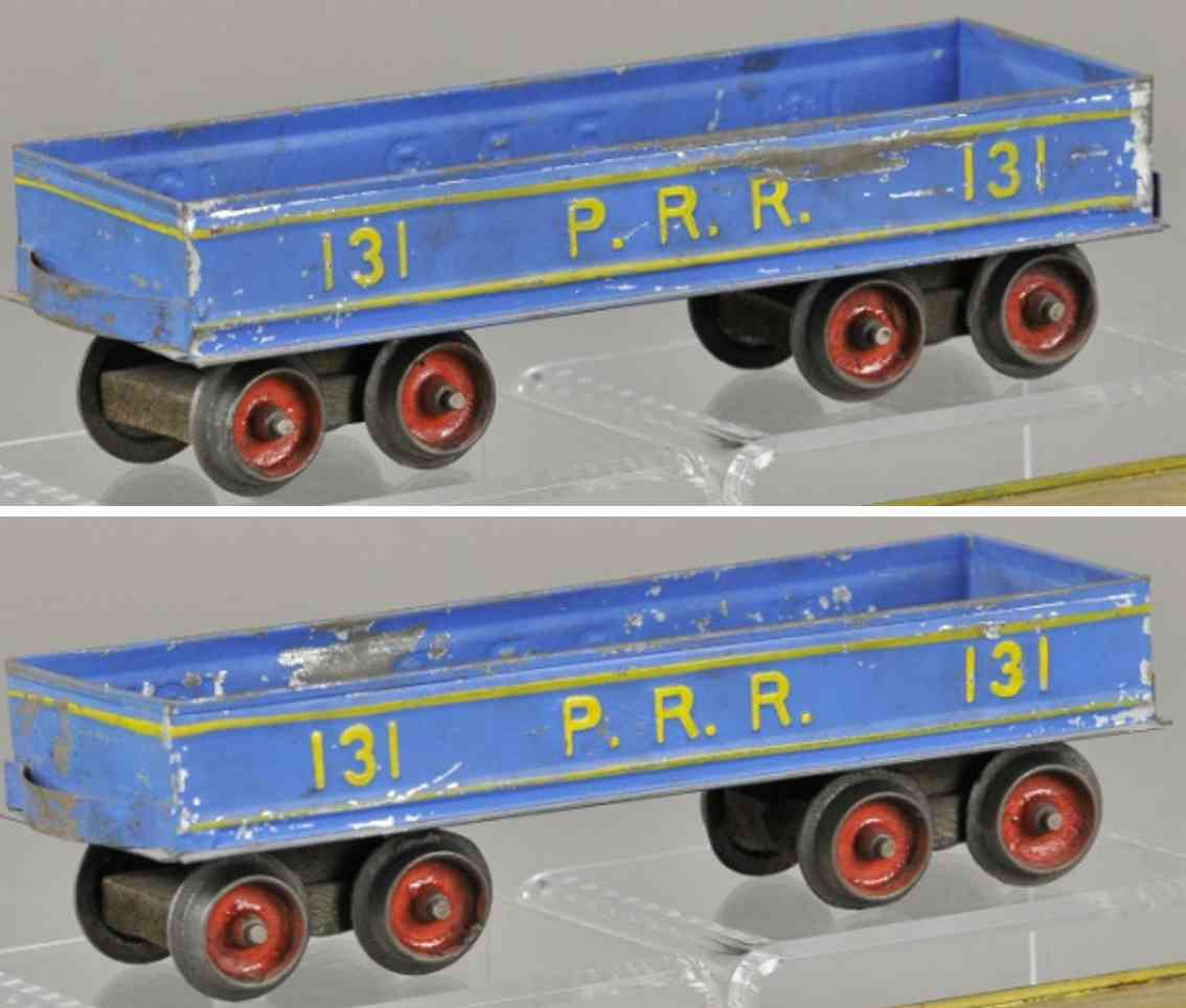 carlisle & finch 11 prr 131 eisenbahn offener gueterwagen blau