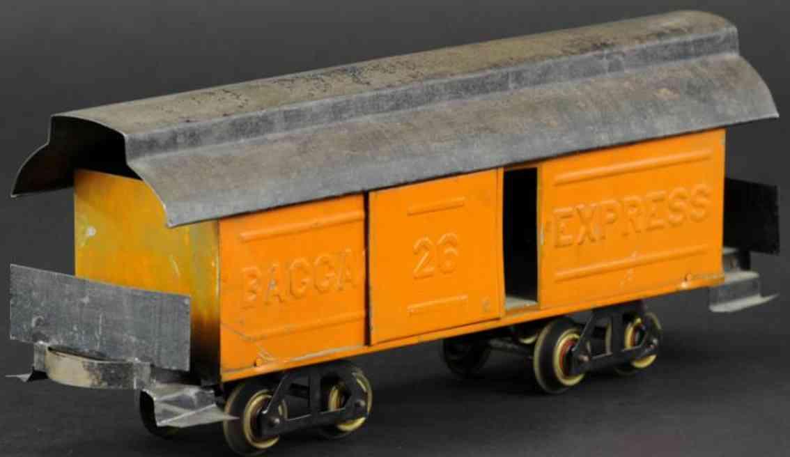 carlisle & finch 26 spielzeug eisenbahn express gepaeckwagen orange spur 2 inches