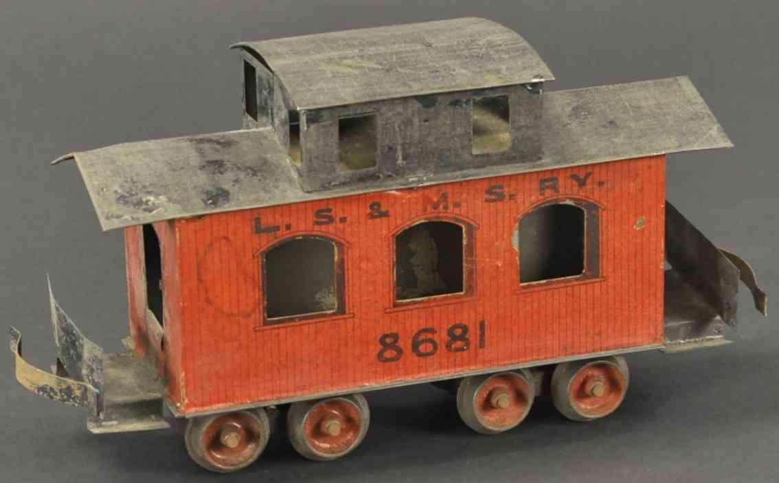 carlisle & finch 46 spielzeug eisenbahn caboose blech 8681