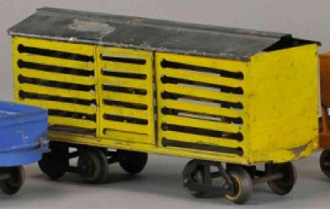 carlisle & finch 48 eisenbahn viehwagen gelb schwarz spur 2