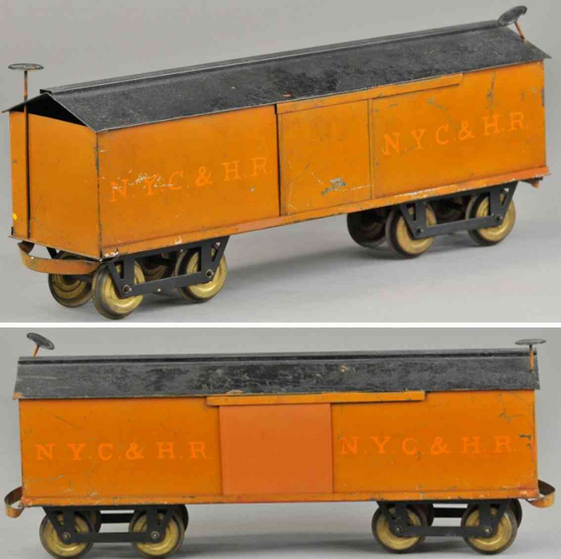 carlisle & finch 91 nyc&hr railway toy box car orange black