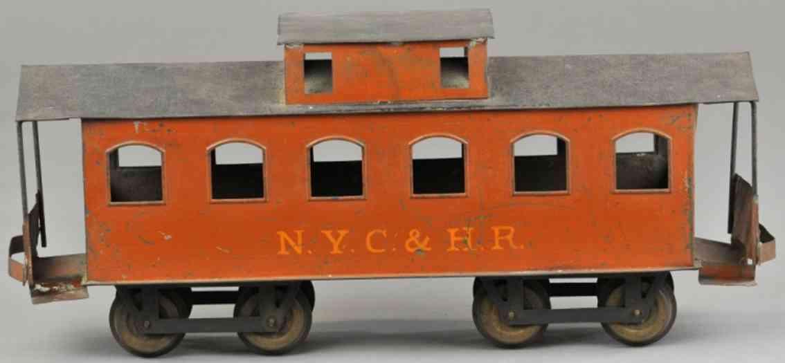 carlisle & finch 92 nyc&hr railway toy box car caboose orange black