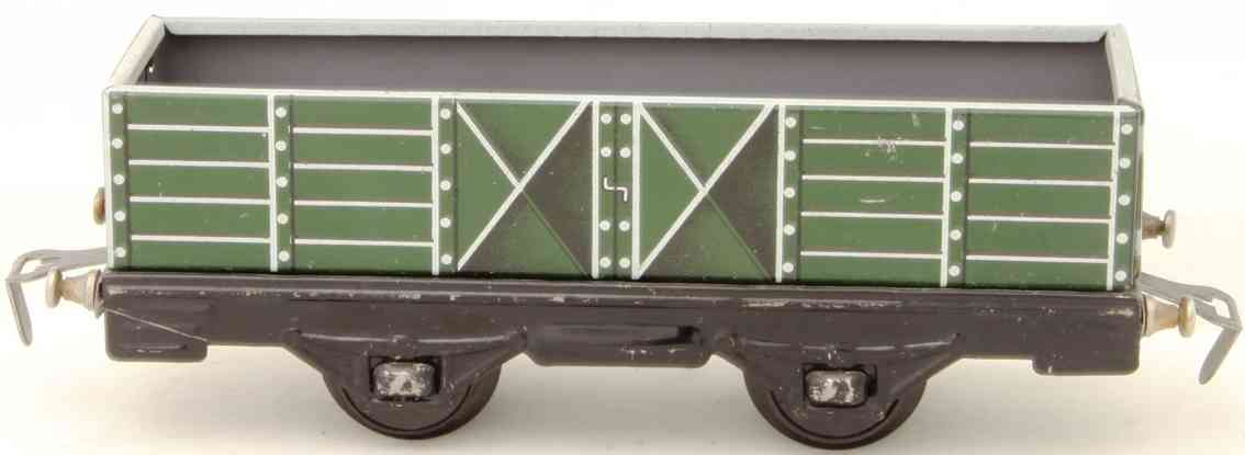 distler johann 251 mit Puffer railway toy high car green with buffer gauge 0