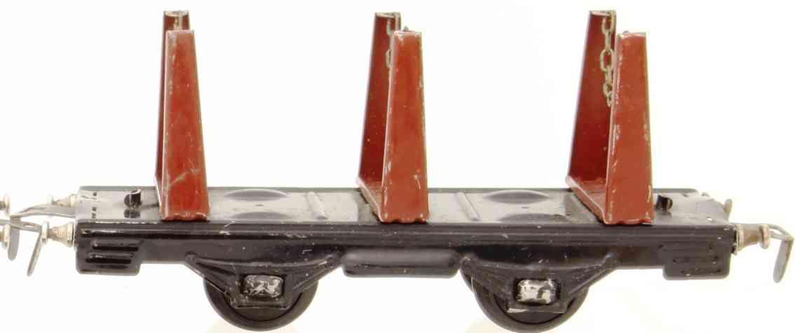 distler johann 252 1952 railway toy stake car brwon thress swivels gauge 0