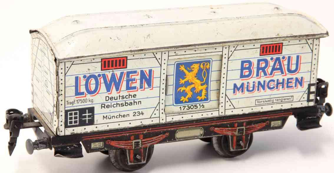 distler johann 256 4 wheels black red beige rotbeige railway toy beer car gauge 0