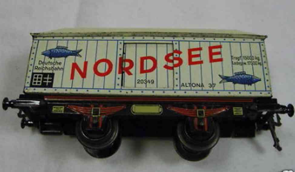 doll 5/592/0 spielzeug eisenbahn kuehlwagen nordsee