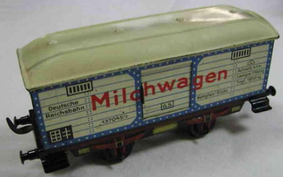 doll 5/593/0 spielzeug eisenbahn kuehlwagen milchwagen