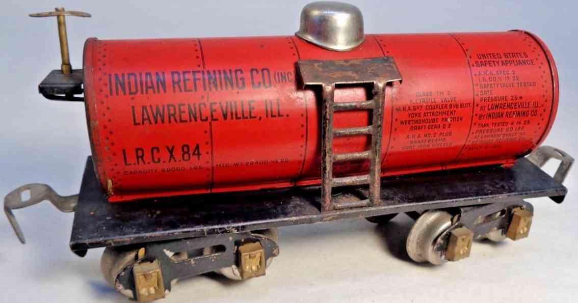 dorfan 604 spielzeug eisenbahn kesselwagen rot indian refining lawrenceville spur 0