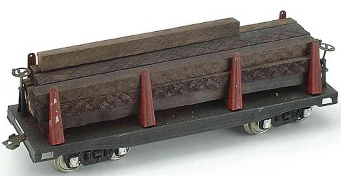 dorfan spielzeug eisenbahn güterwagen mit holzstämmej