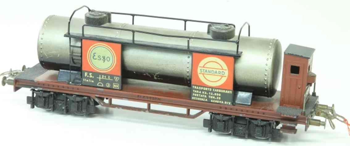 elettren E-102 railway toy tank car with brakeman house; 4-axis; esso and standard