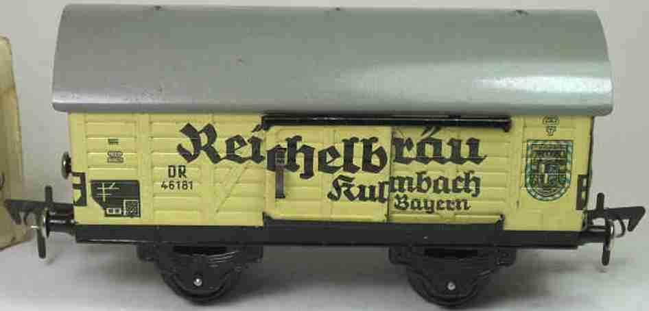 fleischmann 461 spielzeug eisenbahn bierwagen reichelbraeu spur 0