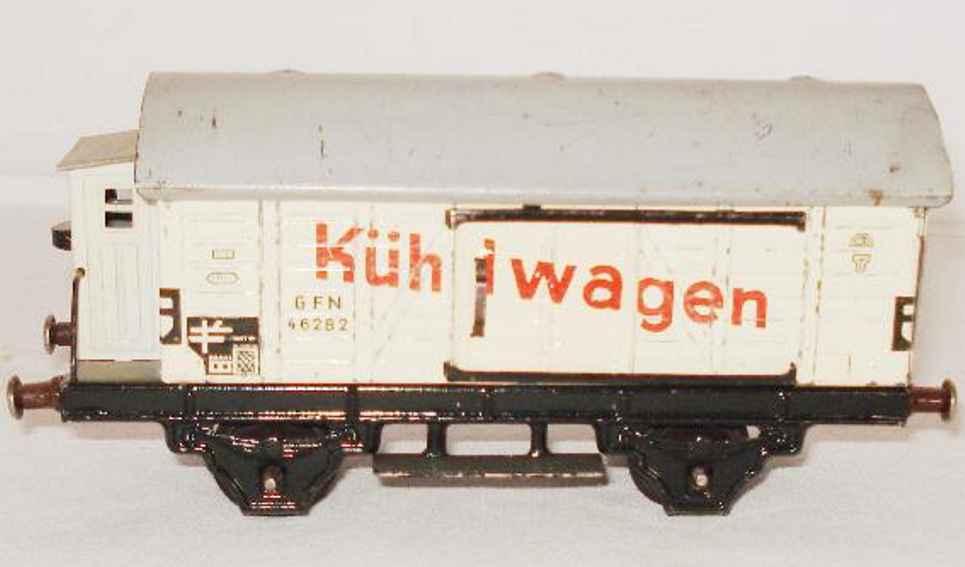 fleischmann 482 spielzeug eisenbahn kuehlwagen bremserhaus spur 0