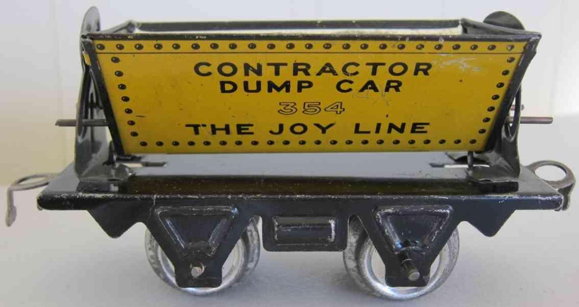 girard 354 spielzeug eisenbahn kippwagen contractor dump car the joy line