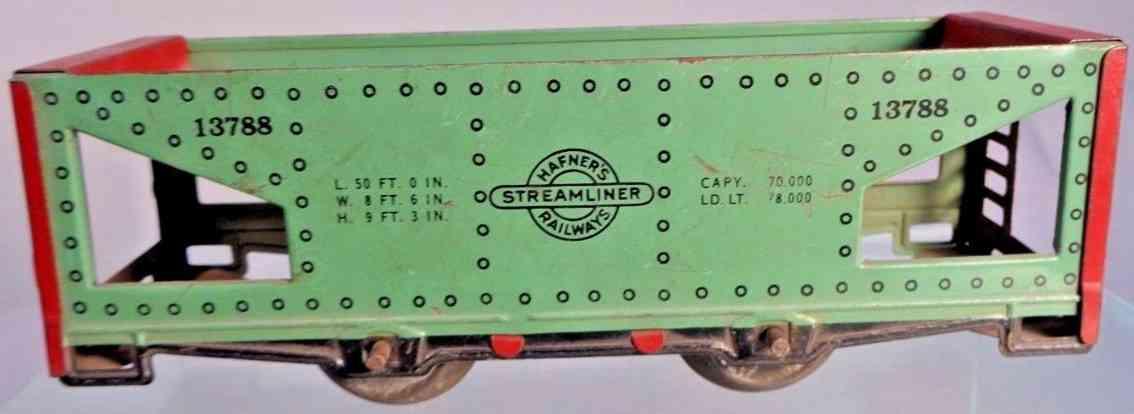 hafner 13788 railway toy hopper car green gauge 0