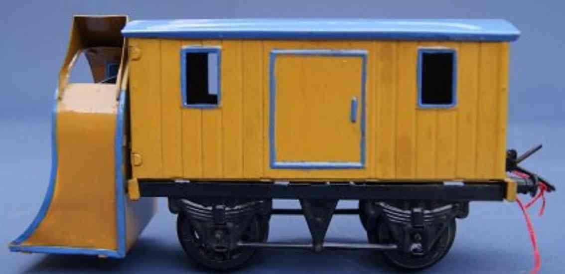 hornby spielzeug eisenbahn schneeschleuder; 2-achsig; in gelb, hellblau und schwarz (üb