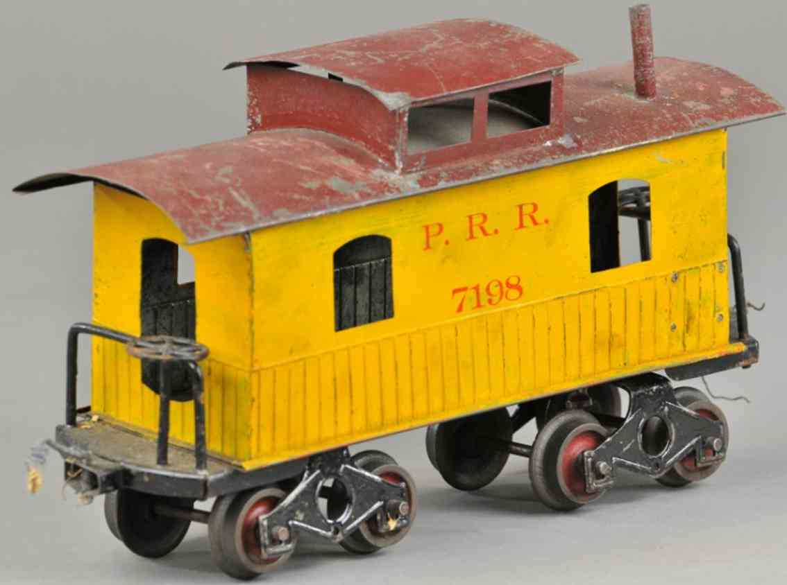 howard electric novelty company 25caboose gerippt gelb kastanienbraun