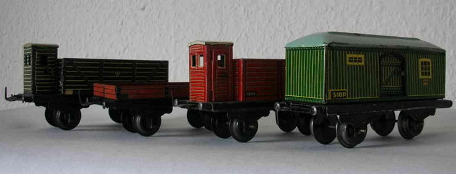 Husch Güterwagen Nr. 211, 213, 310B und 310P