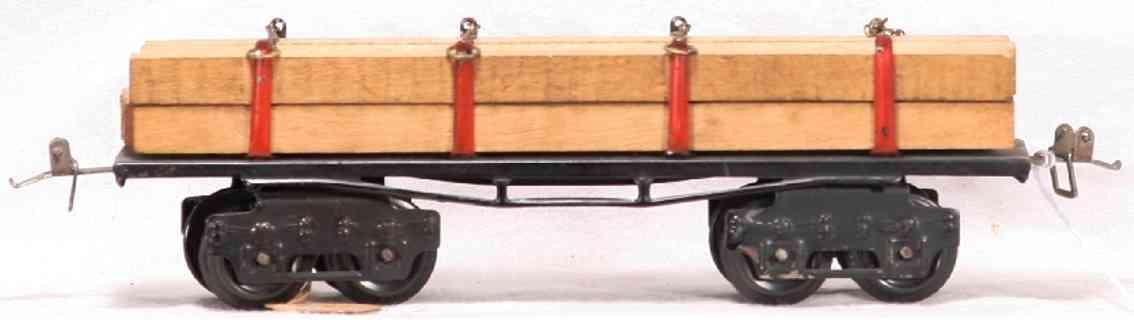 ives 123 spielzeug eisenbahn bretterwagen schwarz spur 0