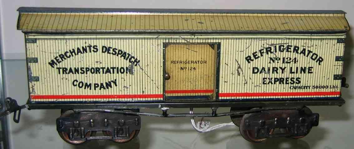 ives 124 1912 spielzeug eisenbahn kuehlwagen spur 0