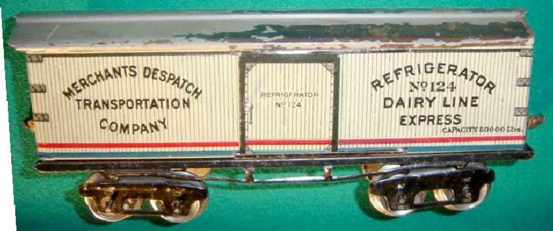 ives 124 1925 spielzeug eisenbahn kuehlwagen merchants disptach spur 0