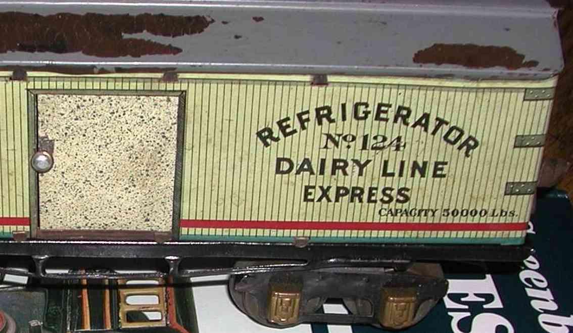 ives 124 1928 spielzeug eisenbahn kuehlwagen spur 0