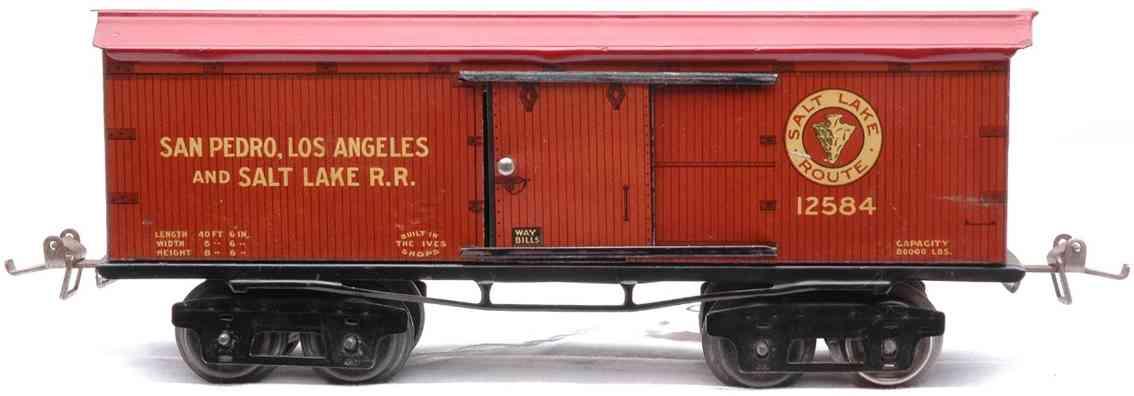 ives 125 1925 spielzeug eisenbahn gedeckter gueterwagen salt lake spur 0