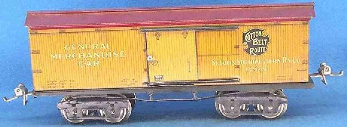 ives 125 1927 spielzeug eisenbahn gedeckter güterwagen spur 0