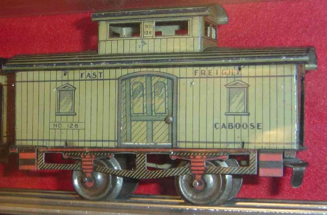 ives 126 spielzeug eisenbahn gueterwagen caboose spur 0