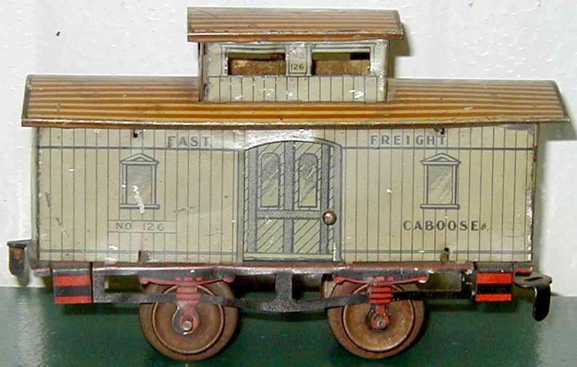 ives 126 1905 spielzeug eisenbahn caboose fast freight spur 0