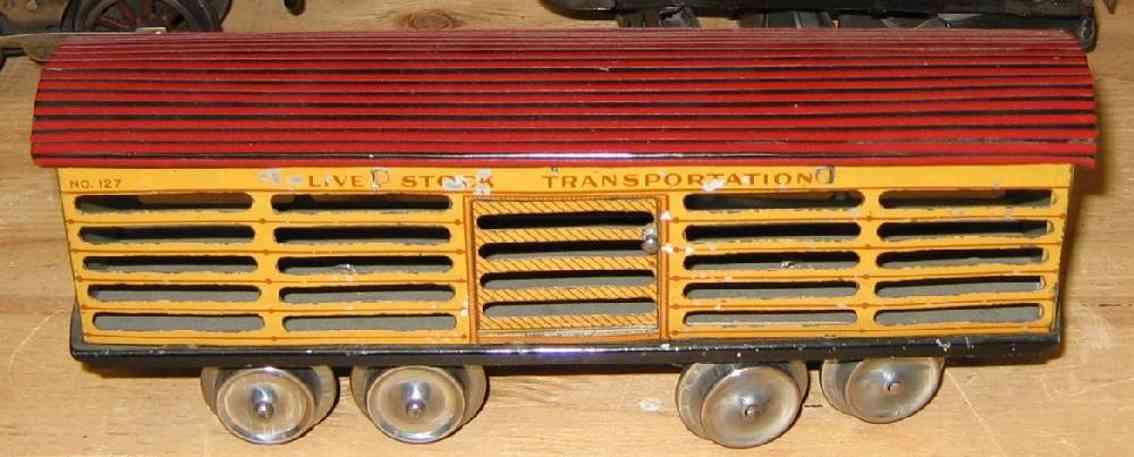 ives 127 1904 viehwagen spur 0 live stock transportation